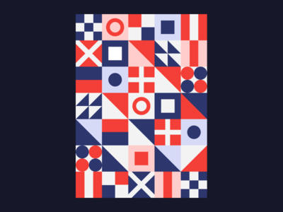 Geometric Pattern pattern vintage colorful minimalism 2d poster art poster poster design vector layout composition minimal art design branding abstract lines flat illustration geometric