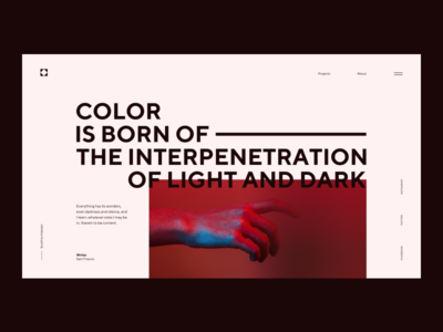 Color is born branding abstract concep lines design minimalism landing ui ux webdesign web typo header grid composition minimal layout art typography flat geometric