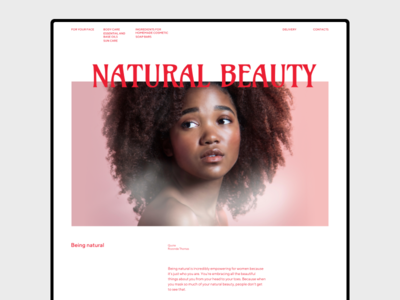Natural Beauty swiss photography ui  ux editorial branding art minimalism abstract geometric website typo grid web webdesign layout composition minimal design typography flat