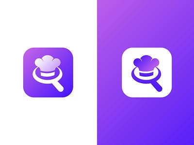 Chef Find-Job app icon flat illustration clean flat icon app minimalist web creative colourful app logo icon design ios app icon app icon android app icon logo design illustraion minimal logo design branding icon