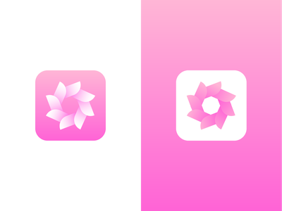 Flower AppIcon app icon design adobe illustrator illustraion creative design creative clean logo branding vector app logo ios app icon android app icon app icon logo app icon icon design icon flower icon flower illustration flower logo flower