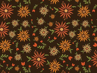Modern Retro Floral Pattern Design surfacedesign modernretro floral pattern surface pattern surface pattern design