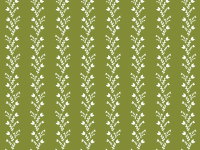 White Tulips on Fern surface pattern designer surface design surface pattern design