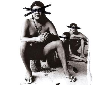 'PDAL' design photography family brazilian indigenous minimal retro art vintage collageonpaper collage art artist collageart collage colagem artmajeur