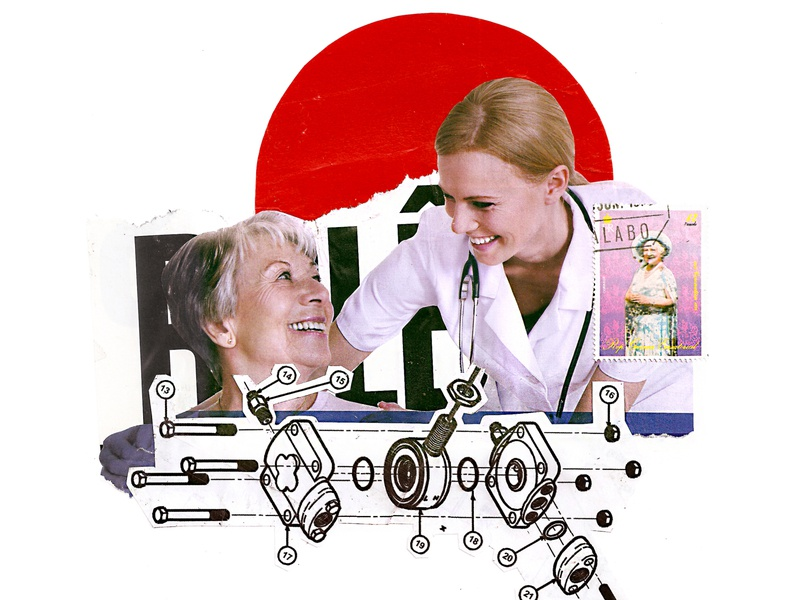 'If you depend on medicine and engineering you will be a new...' geometric woman women doctor medicine red circle love photography contemporary retro art vintage collageonpaper collage art artist collageart collage colagem artmajeur