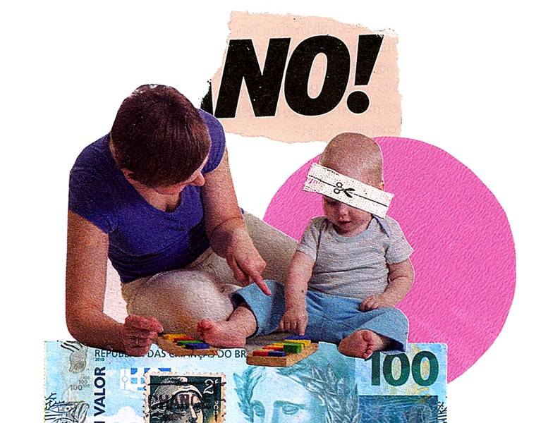 'You don't have more than that' photography typography type kid child baby mom mother love contemporaryart retro art vintage collageonpaper collage art artist collageart collage colagem artmajeur