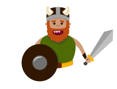 Diseño de Guerrero Vikingo
