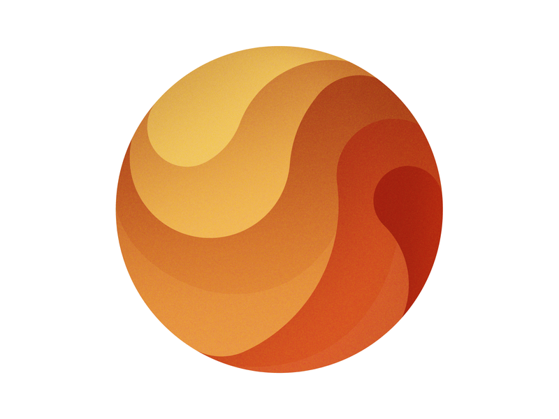 Orange ball shapes illustrator degrade ball orange