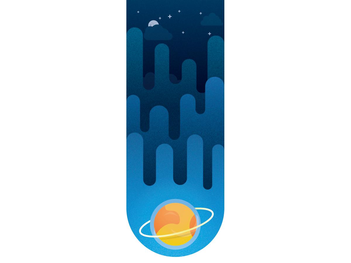 Blue Space vector illustration degrade clouds space planet blue shapes illustrator