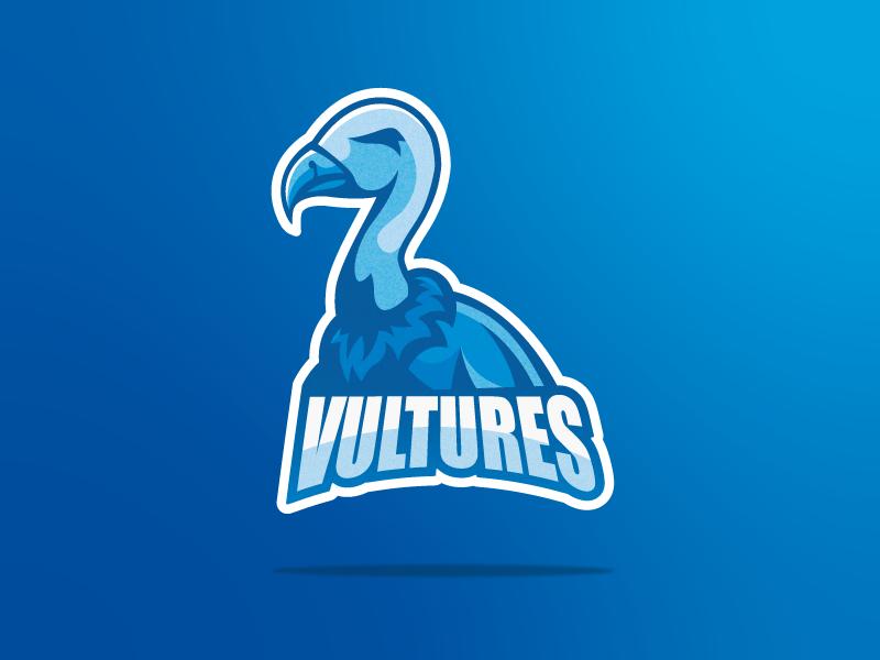 Vultures eagle bird vulture blue illustration design vector shapes logo illustrator