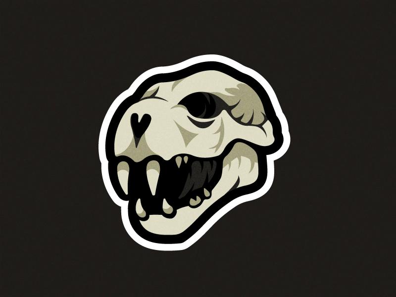 Cat Skull illustration shapes logo vector illustrator