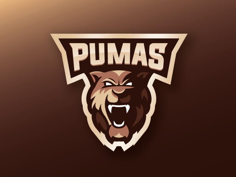 Pumas mascot design mascot logo mascot pumas puma cat logo illustration design shapes vector illustrator