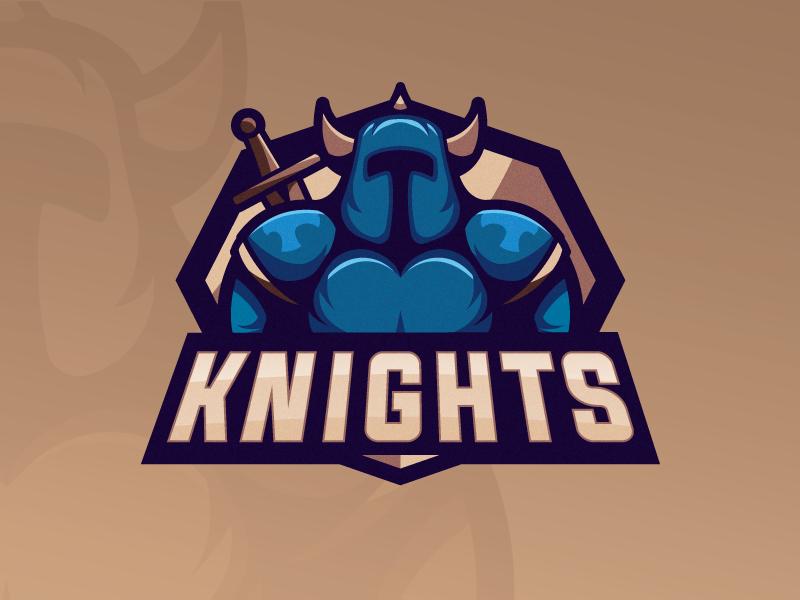 Knights mascot logo mascot mascot design logo design vector illustrator