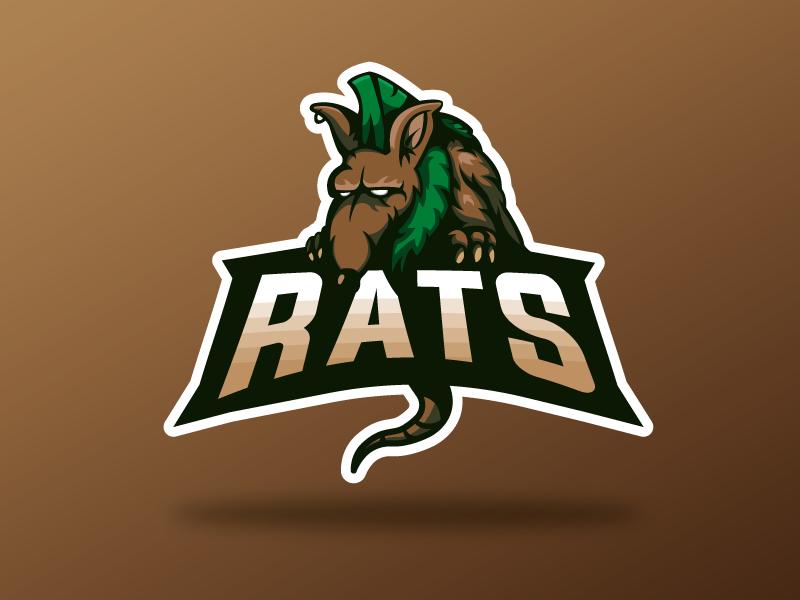 Rats rats shapes mascot design mascot logo vector illustrator
