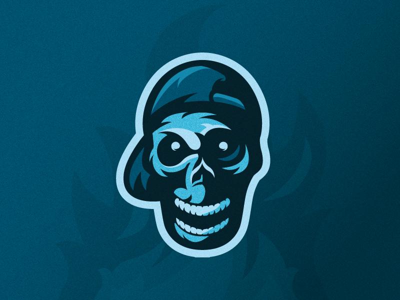 Cool Skull esport mascot logo mascot design mascot design logo shapes vector illustrator