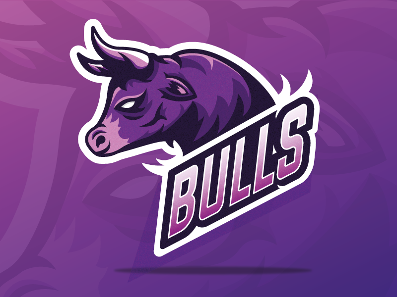 Bulls cow bulls bull esport mascot logo mascot mascot design design logo shapes vector illustrator