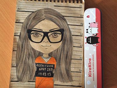 Alex Vause orange is the new black sketchy sketch prisoner movie art anna pozdieieva illustration character prison