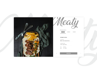 DailyUI  002 - Checkout page meaty