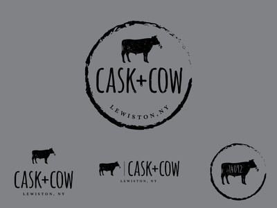 Cask + Cow logo design