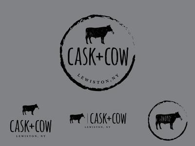 Cask + Cow logo design