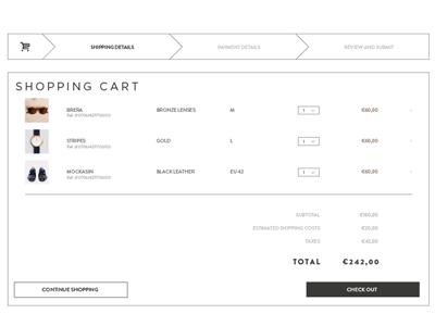 fashion shopping bag ui check out