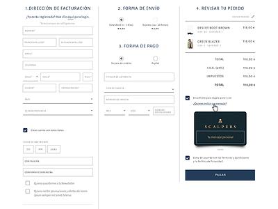 One step checkout UI e-commerce fashion