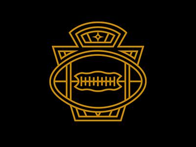Pittsburgh Keystone Badge apparel nfl symmetry football keystone badge pittsburgh steelers logo clean print icon design dribbble vector branding illustrator illustration