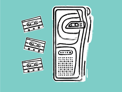 Microcassette Illustration