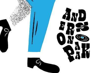 Anderson .Paak Illustration texture brushes texture typography design instagram music music app retro vintage retrosupplyco retrosupply midcenturymodern midcentury type typography dribbble vector illustrator illustration design