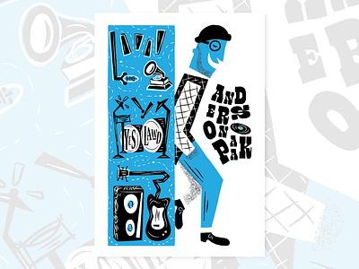 Anderson .Paak Poster instagram music midcentury midcenturymodern lettering type typography texture brushes texture pack texture retrosupplyco retrosupply vintage retro branding vector dribbble illustrator illustration design