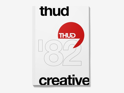 THUD Book Cover Mock Up Minimalist