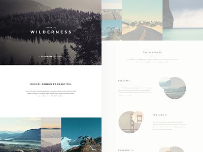 Lost in the Wilderness minimal minimalist theme web ui layout
