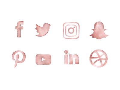 Blush Social Media Icons