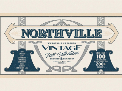 Northville Vintage Font Collections
