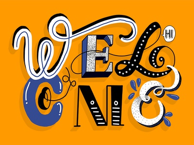 Welcome just for fun ipad colorful practive hand lettering lettering