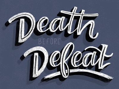 Death Before Defeat ipad illustration hand lettering lettering
