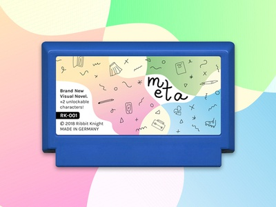 My Famicase 'meta' colorful video game illustration famicase