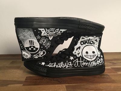 Converse Lettering design video game overwatch character converse canvas molotow lettering hand lettering illustration
