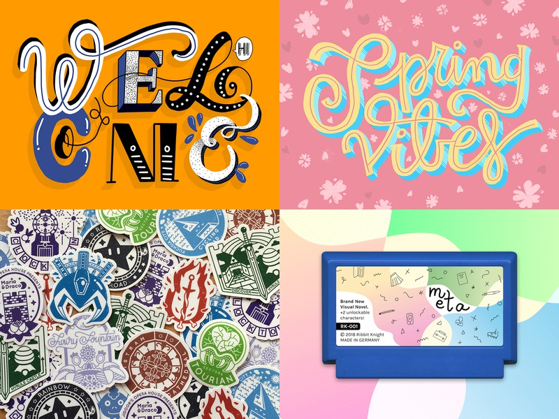 Best of 2018 ipad inspiration sticker 2018 video game design graphic design passion project hand lettering illustration lettering colorful best of