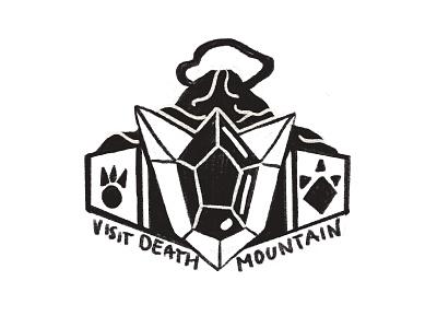 Death Mountain sketch ocarina of time zelda video games sketch pxpassport legend of zelda illustration gaming