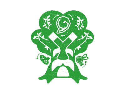 Kokiri Forest final vector legend of zelda stamp graphic design passion project video games illustration