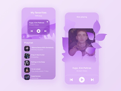 Daily UI 9 flatillustrations bands artists list purple player music ui dailyuichallenge dailyui