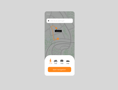 Daily UI challenge - Day 20  Location Tracker