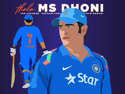 MS DHONI - Tribute to the Ultimate Legend cricketer csk india cricket design art beast fanboy tribute cult illustration tribute fanboy fan art
