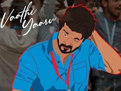 Master - Thalapathy Vijay Illustration fanboy tributetothebeast vector designer branding illustration art design