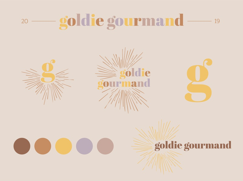Goldie Gourmand Branding