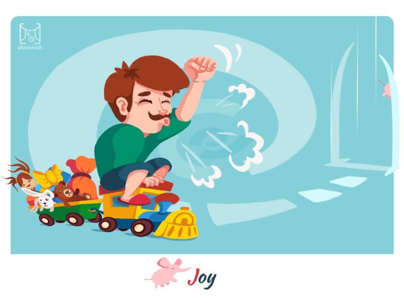 Joy children illustration 2d illustration vector cartoon inkscape