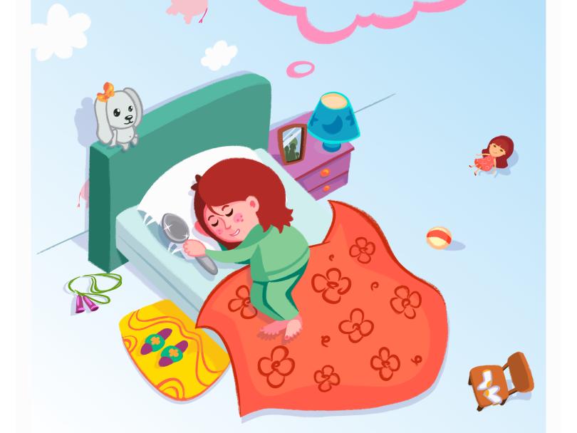 sleepY children illustration 2d illustration vector cartoon inkscape