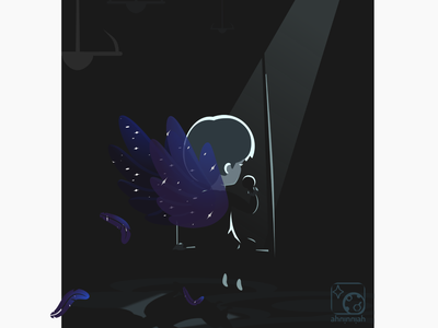 Song song angel illustration 2d vector cartoon inkscape