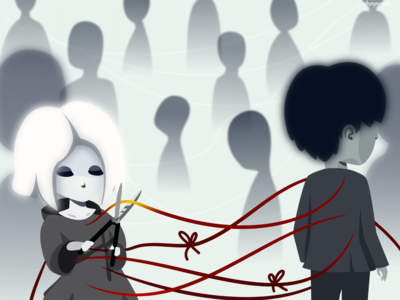 Cut Off illustration 2d vector cartoon inkscape